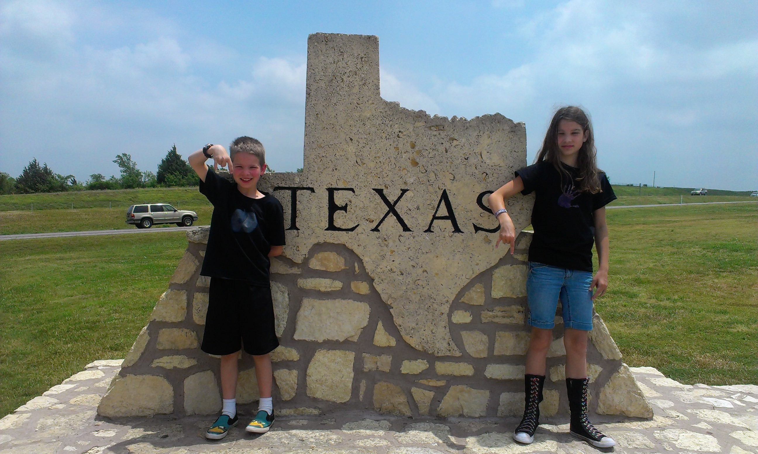 We had to stop at the Texas sign and show our respect!