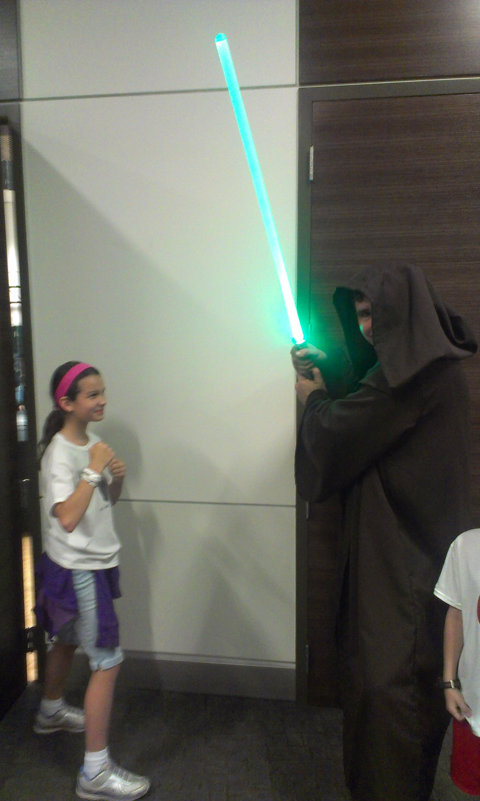 Addi taking on a Jedi.