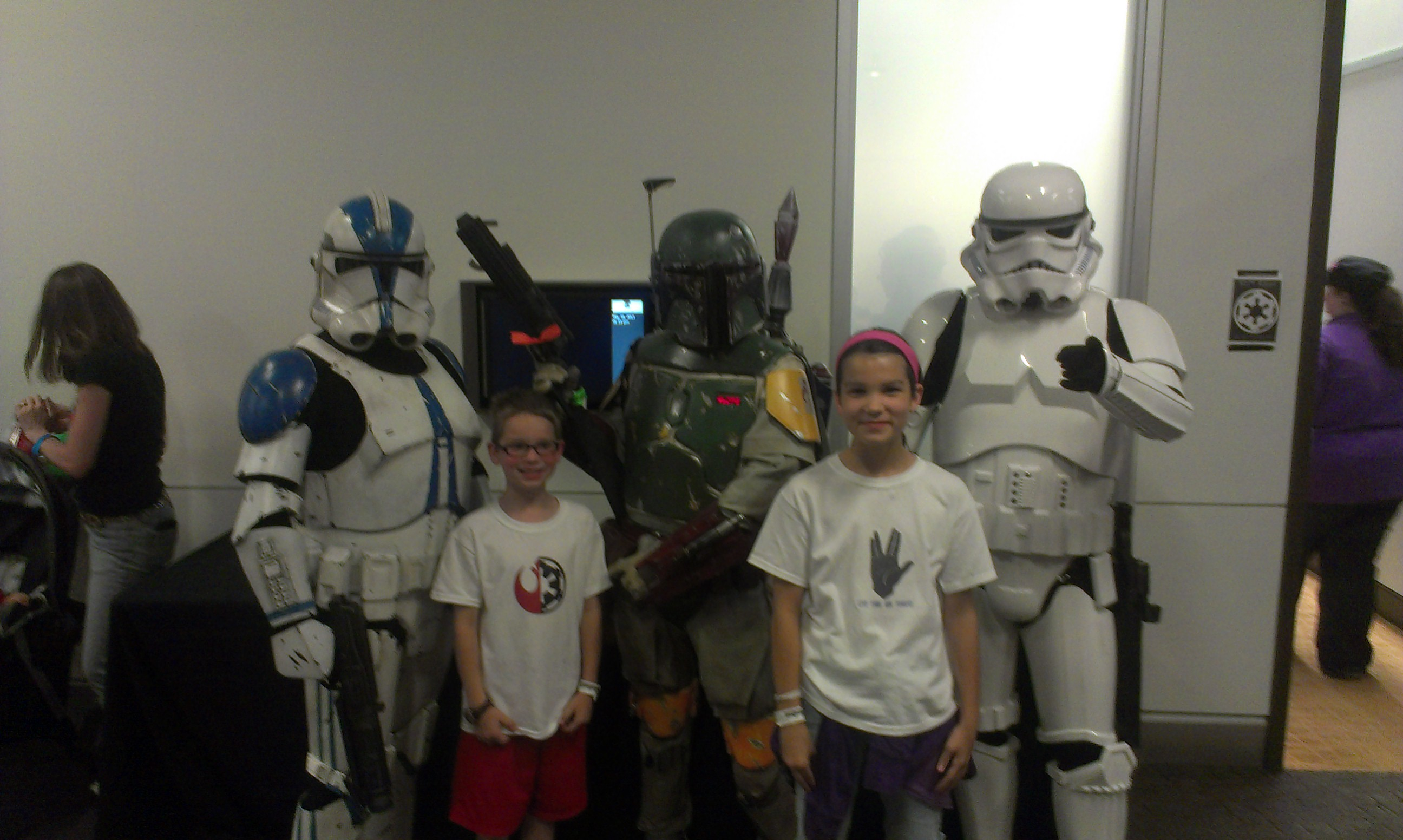 These guys had some great Star Wars costumes!