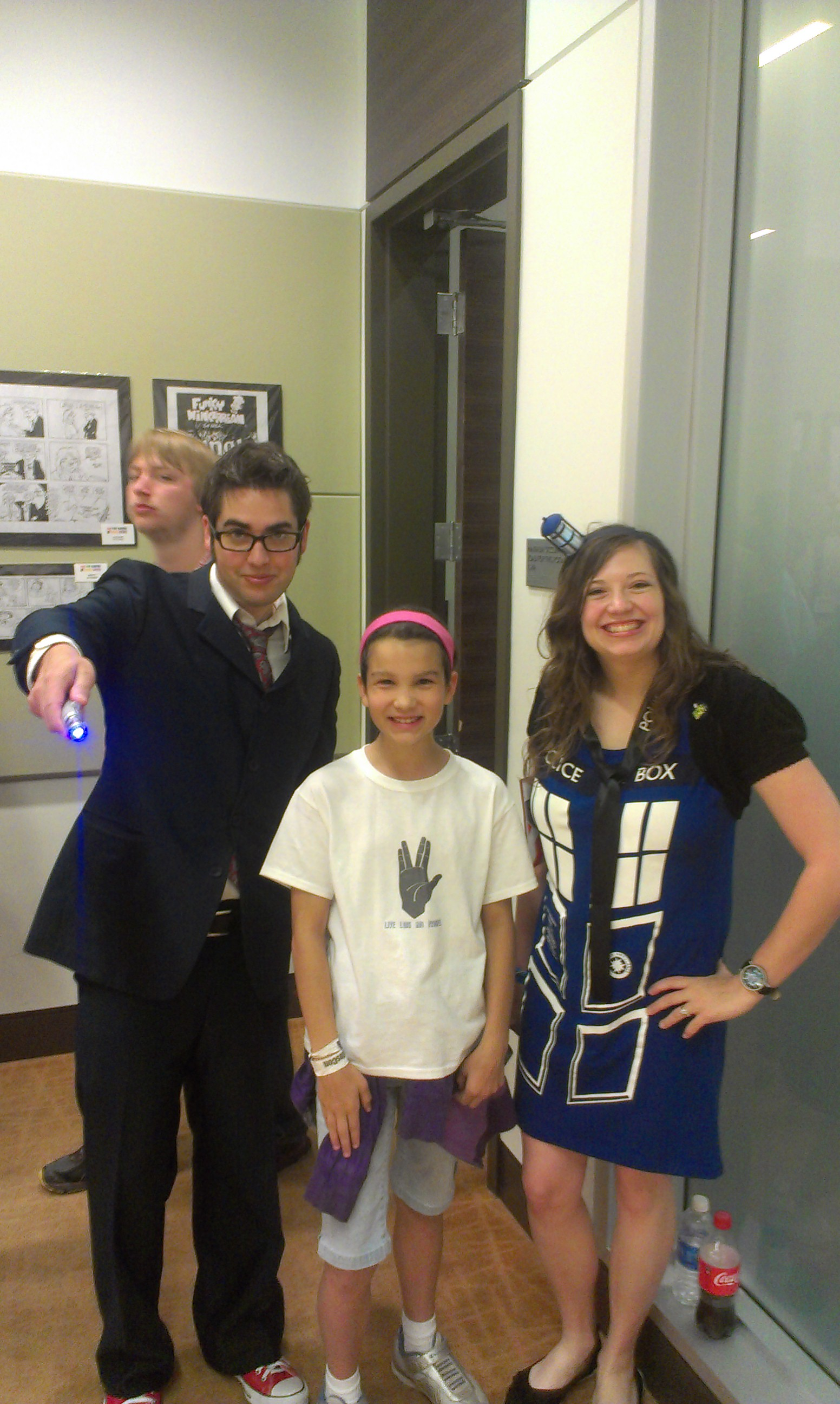 A great Doctor and TARDIS couple. her hair piece lights up too!