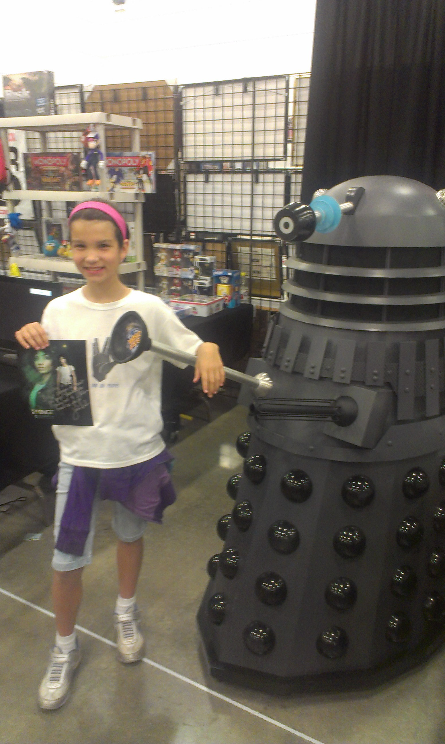 Addi with a really amazing Dalek reproduction!