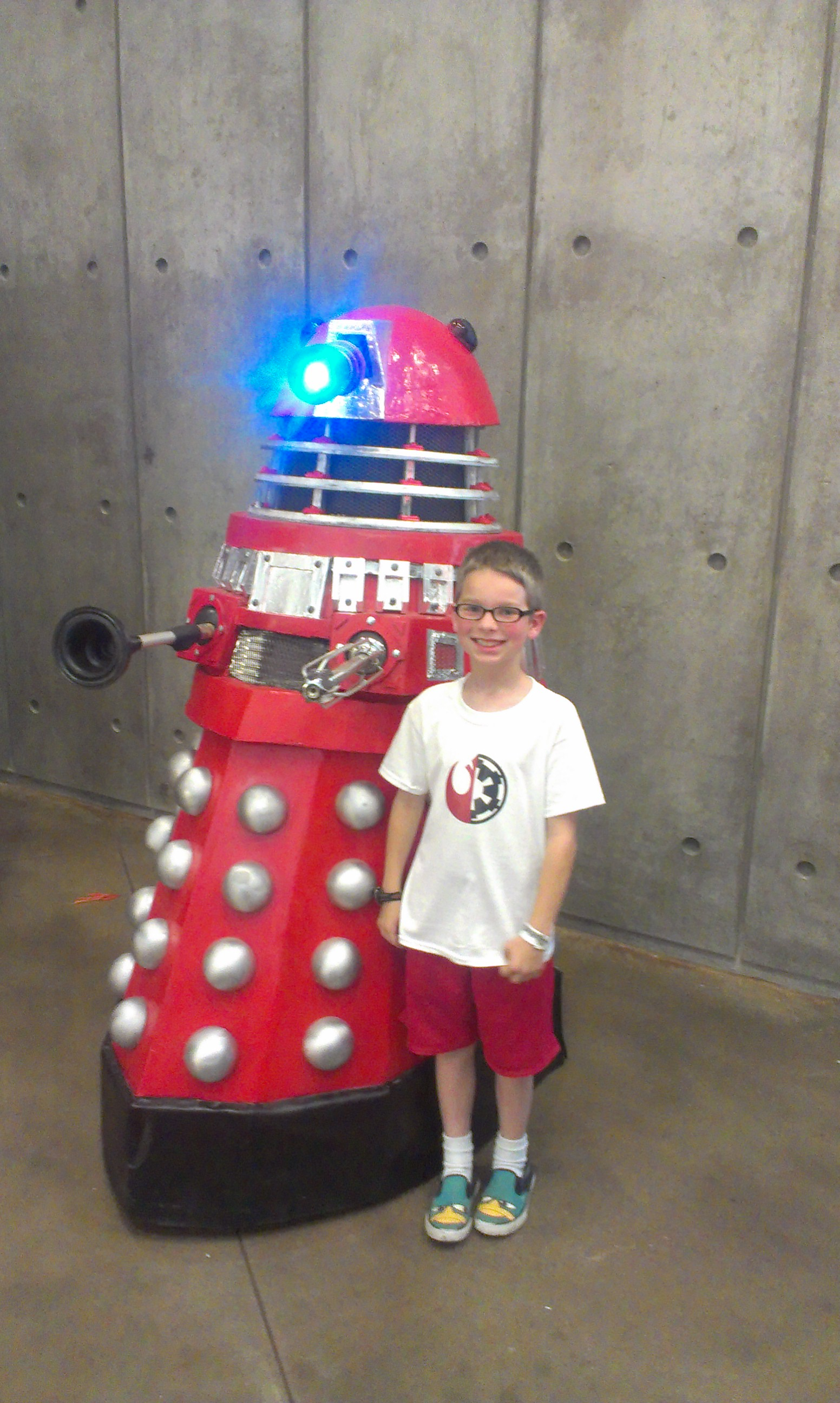 This Dalek moves its head and appendages.