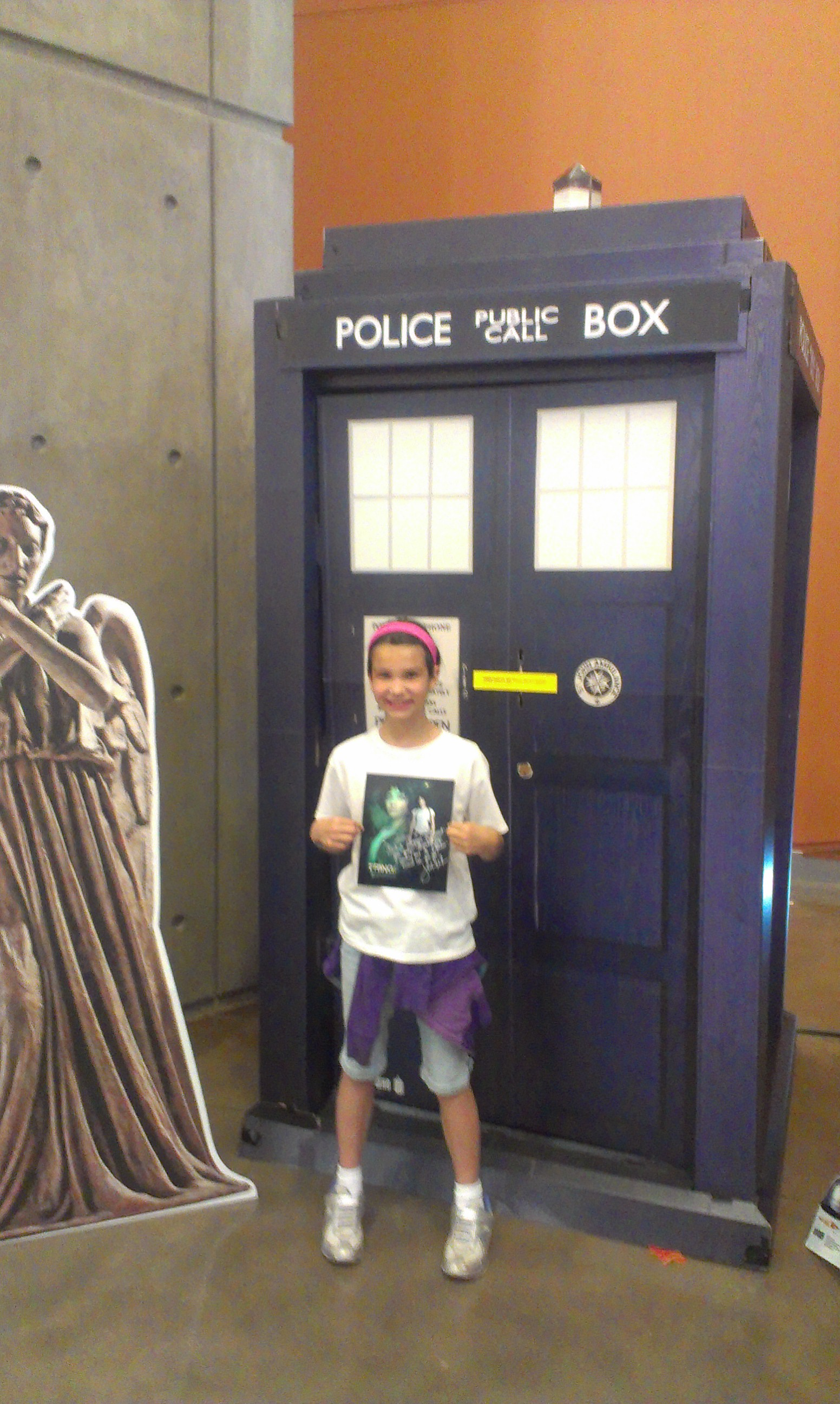 Addison and a TARDIS.