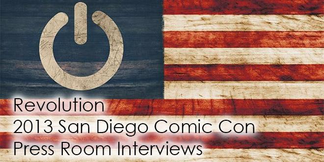 Revolution Comic Con 2013 Press Room Interviews