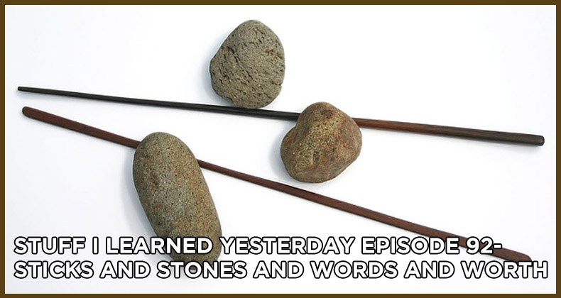SILY Episode 92-Sticks and Stones and Words and Worth