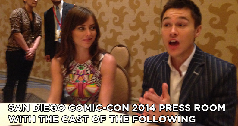 SDCC 2014 The Following Press Room Interviews