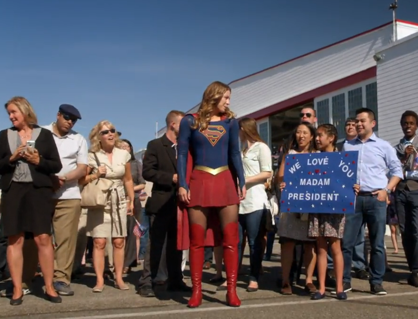 Supergirl Greets POTUS