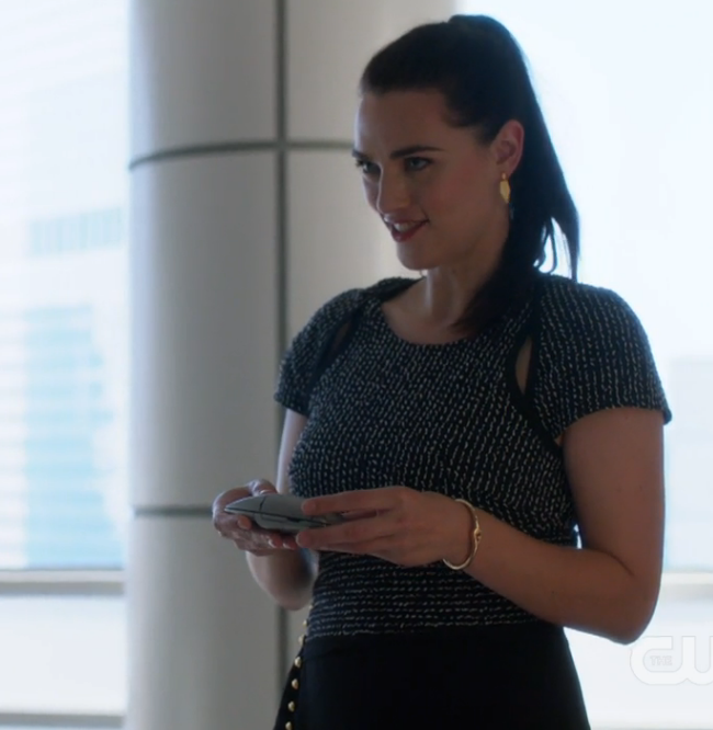 Lena and her new touchy-feely device.