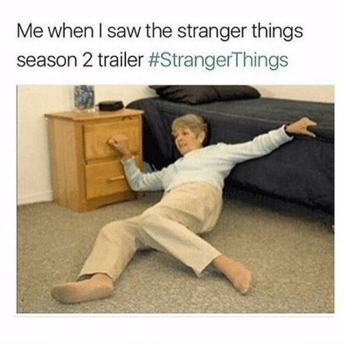 Stranger Things Season 2 Trailer Meme
