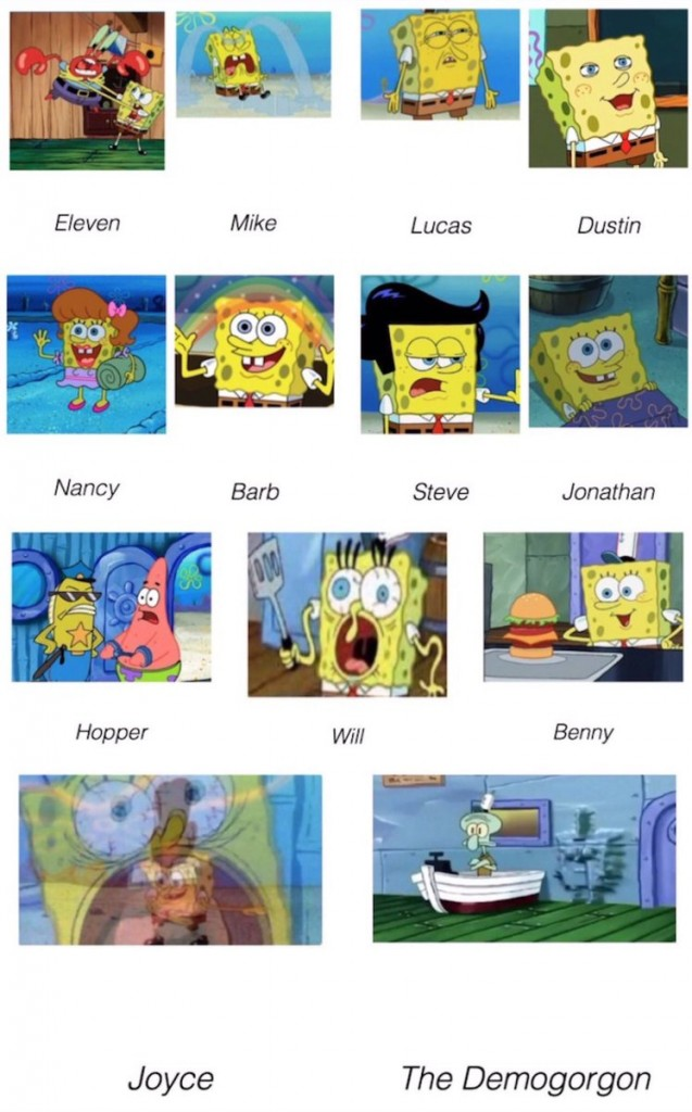 Stranger Things Sponge Bob