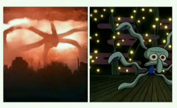 Squidward Stranger Things Shadow Monster