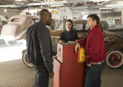 Malcolm Barrett as Rufus Carlin, Abigail Spencer as Lucy Preston, Matt Lanter as Wyatt Logan