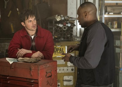 Matt Lanter as Wyatt Logan, Malcolm Barrett as Rufus Carlin