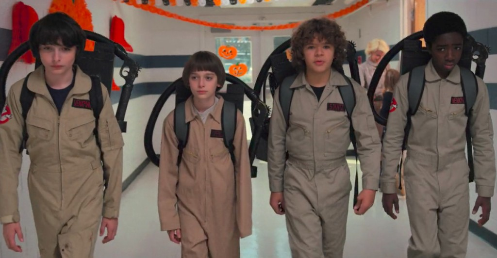 Stranger Things Ghostbusters School Hallway