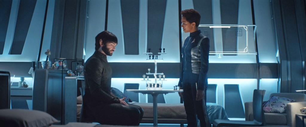 STDP 034 - Star Trek Discovery S2E9 (23:05) - Michael & Spock arguing.