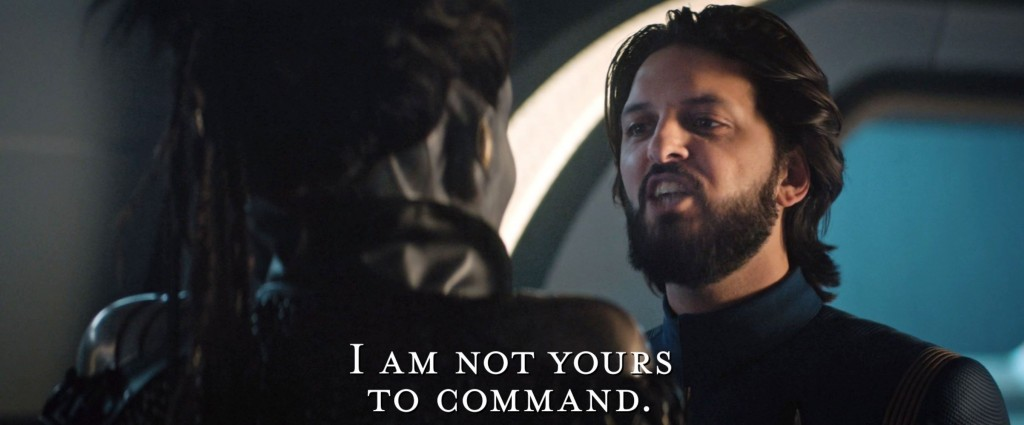 STDP 037 - Star Trek Discovery S2E12 (09:52) - I'm not yours to command (spoken in Klingon).