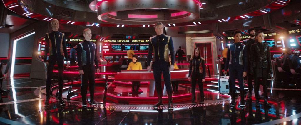 STDP 038 - Star Trek Discovery S2E13 (17:54) - The USS Enterprise bridge at red alert.