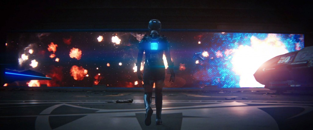 STDP 040 - Star Trek Discovery S2E14 (17:44) - Michael on her way to exit the shuttle bay.