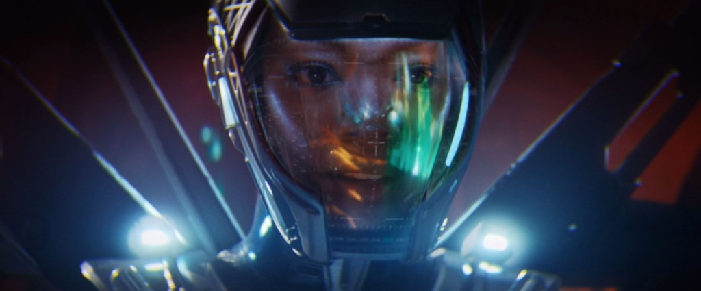 STDP 041 - Star Trek Discovery S2E14 (42:24) - Michael and the time crystal's reflection in the helmet.