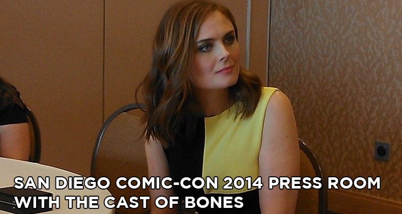 SDCC 2014 Bones Press Room Interviews