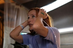 """THE X-FILES:  Gillian Anderson in the """"My Struggle III"""" season premiere episode of THE X-FILES airing Wednesday, Jan. 3 (8:00-9:00 PM ET/PT) on FOX. ©2017 Fox Broadcasting Co. Cr: Robert Falconer/FOX"""