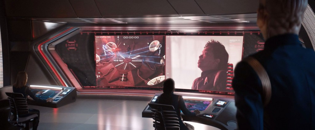 STDP 035 - Star Trek Discovery S2E10 (45:33) - Capturing the Red Angel, as shown from the Discovery bridge.