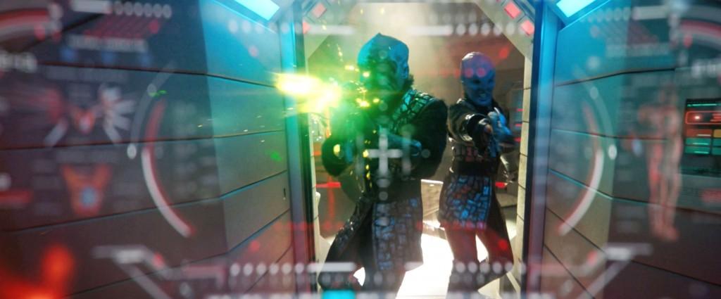 STDP 036 - Star Trek Discovery S2E11 (10:06) - Klingons firing at Dr. Burnham.
