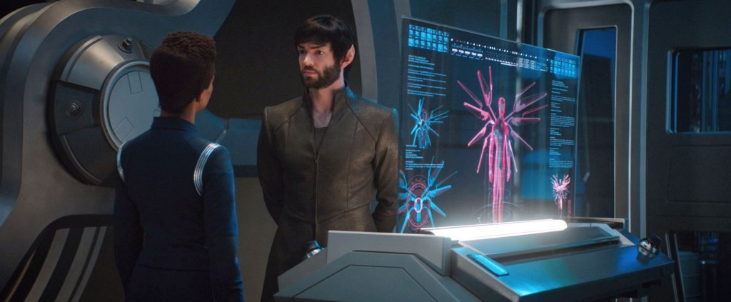 STDP 034 - Star Trek Discovery S2E9 (14:22) - Spock and Michael bickering in the Engineering lab.