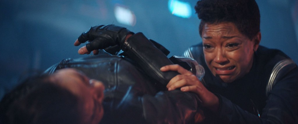 STDP 038 - Star Trek Discovery S2E13 (11:41) - Michael turning Georgiou's body to get her phaser (Michael's vision).