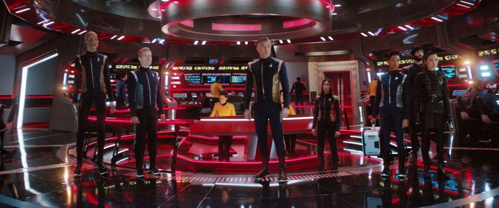 STDP 038 - Star Trek Discovery S2E13 (17:54) - The USS Enterprise bridge at red alert.