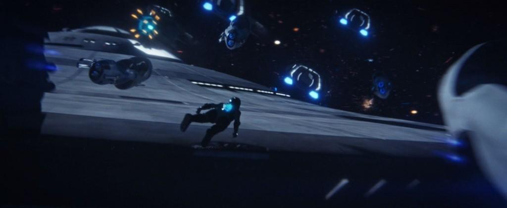 STDP 040 - Star Trek Discovery S2E14 (19:09) - Michael flying over the Enterprise.